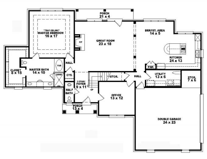 Exceptionnel #653827   Two Story 4 Bedroom, 3.5 Bath French Style House Plan : House