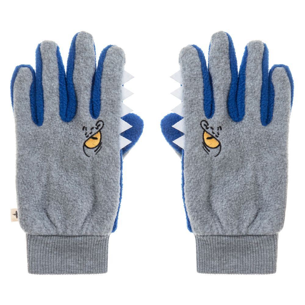 8d136cf1125d8 Boys Grey Fleece Gloves for Boy by Billybandit. Discover the latest designer  Gloves   Mittens for kids online at Childrensalon.co.