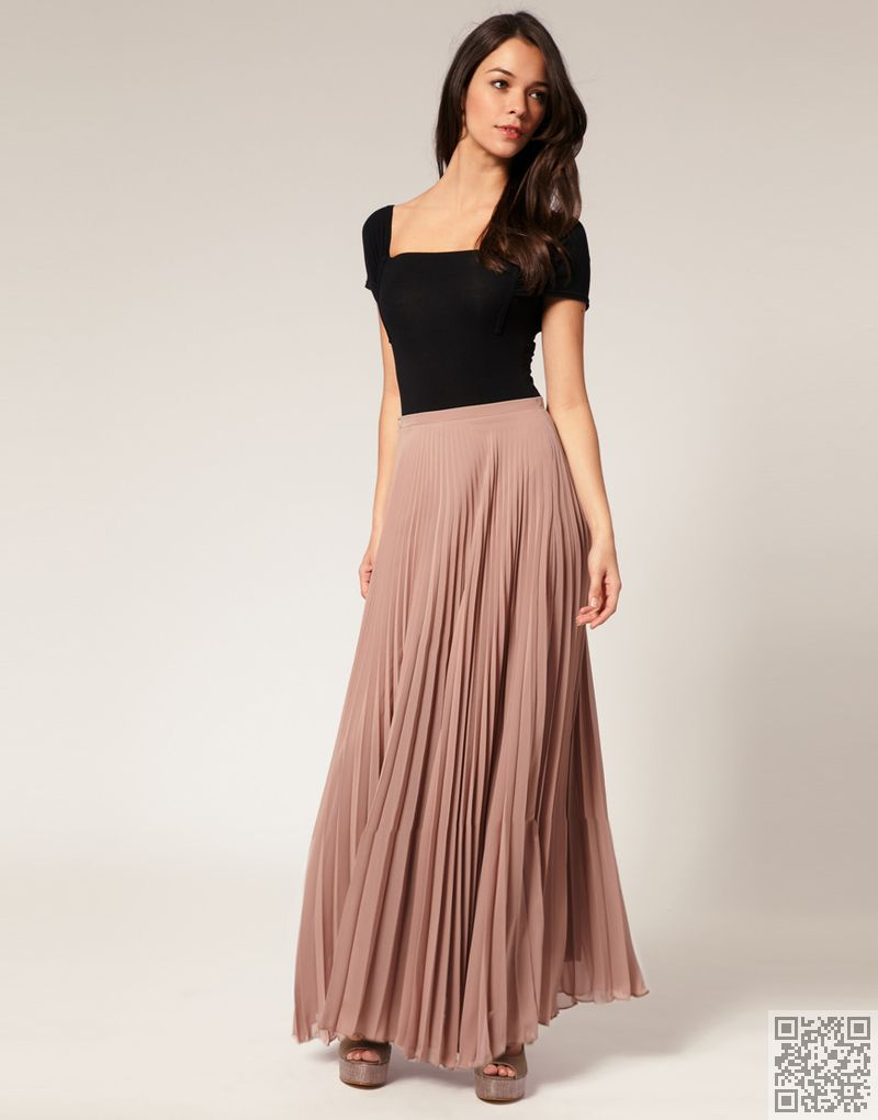 in a pleated style sophisticated ways to wear maxi skirts