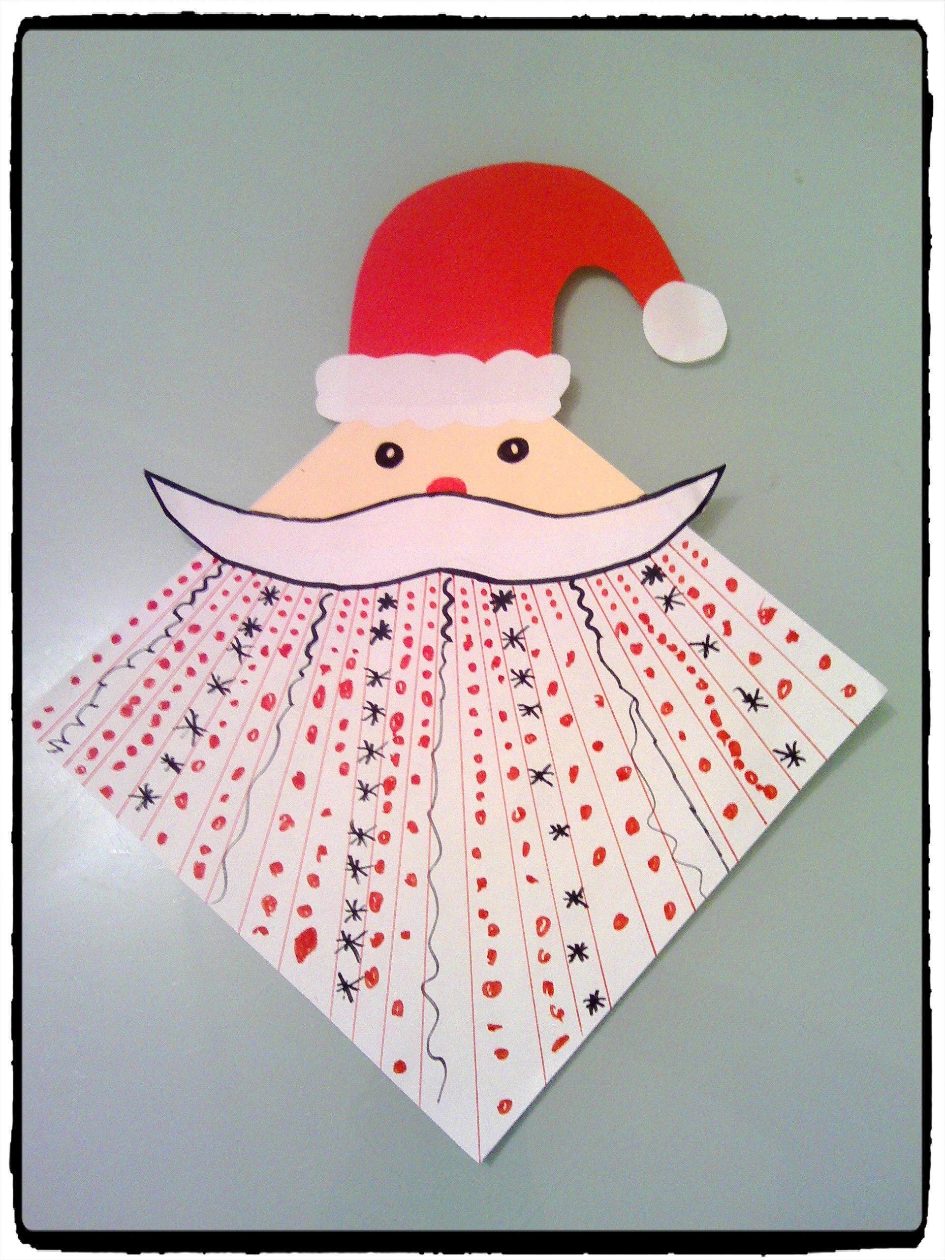 Exercice De Graphisme Avec Le Père Noël Mikulás Santa