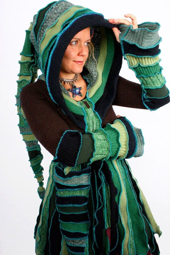 Recycled Sweater Circus Coat TUTORIAL by Katwise #gottahaveit