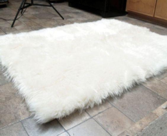 Grau, 45 X 45 cm HEQUN Lammfellimitat Teppich Longhair Fell Optik Nachahmung Wolle Bettvorleger Sofa Matte Faux Lammfell Schaffell Teppich