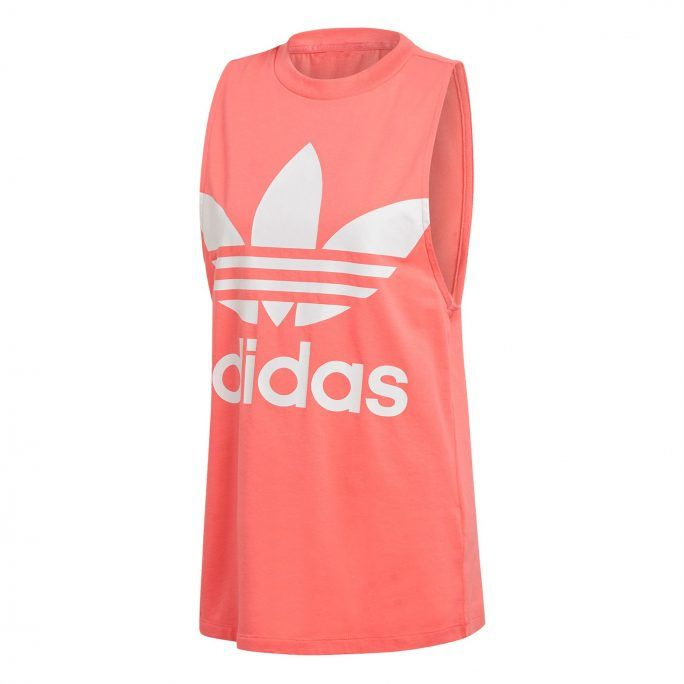 7e56719fd21 Adidas γυναικεία αθλητική αμάνικη μπλούζα Trefoil - DH3170 - Κοραλί ...