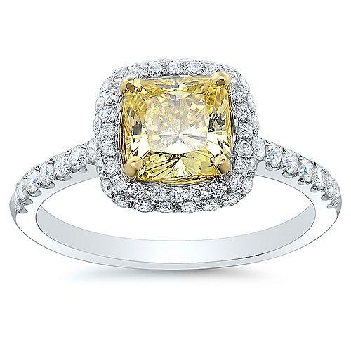 Canary yellow and white Diamond ring Canary Diamonds Pinterest