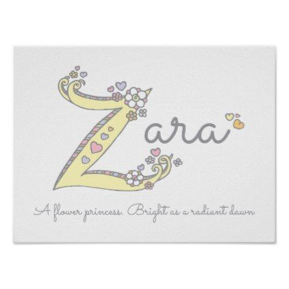 Z for Zara initial doodle art name meaning Poster | Zazzle ...
