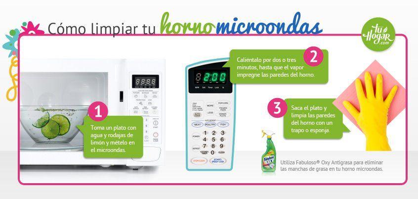 Como Limpiar Tu Horno Microondas Limpieza Casa Limpiar Limpieza