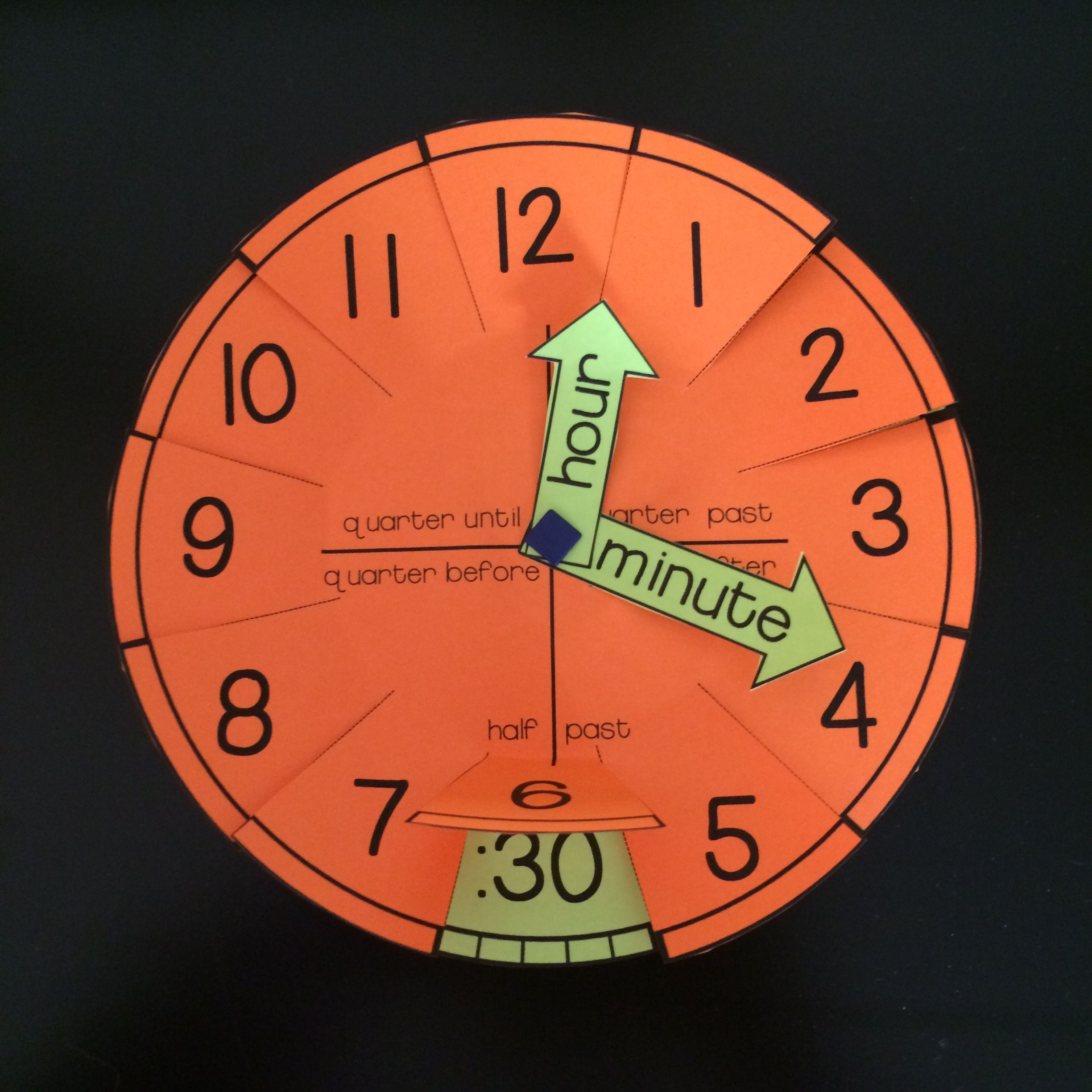 Telling Time Clock Templates And Foldables