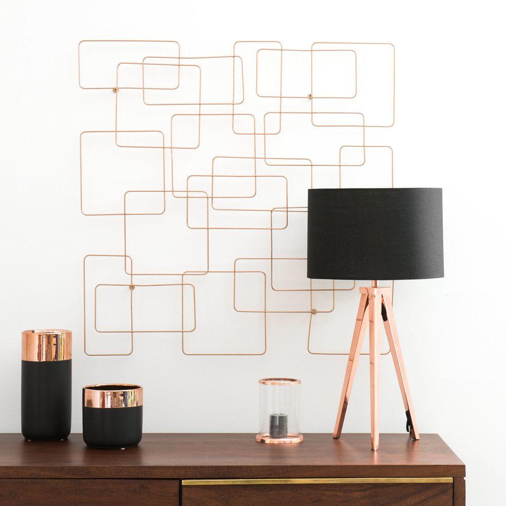 d co murale filaire en m tal dor 76x78 maisons du monde appart pinterest deco murale. Black Bedroom Furniture Sets. Home Design Ideas