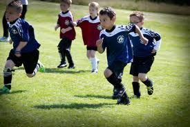Kids having fun playing sports