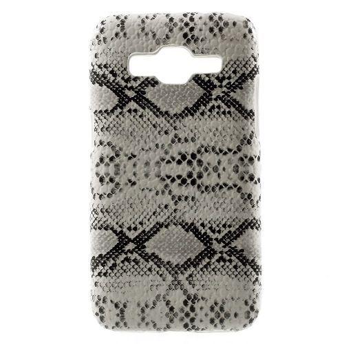 Mesh - Samsung Galaxy Core Prime Hoesje - Back Case Hard Slangen Wit   Shop4Hoesjes