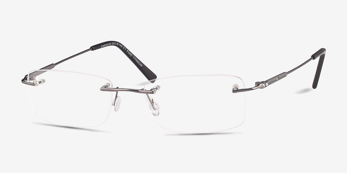 Dimension studious sleek rimless frames eyebuydirect