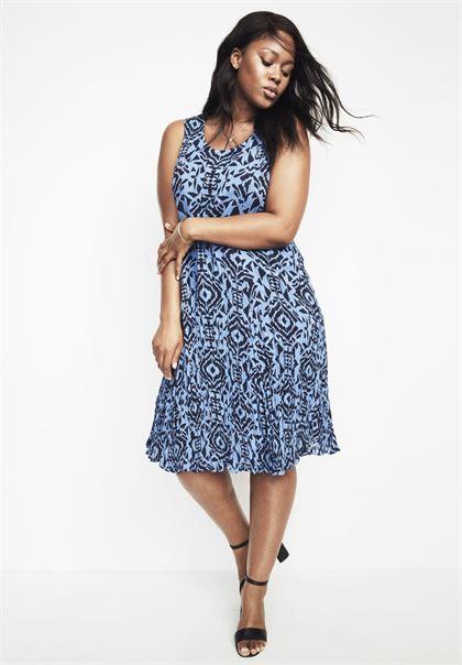 Short Crinkle Dress by Denim 24/7 | Plus Size Casual Dresses ...