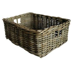 Awesome Grey Rattan Storage Baskets   Shallow   Choice Baskets48x38x16