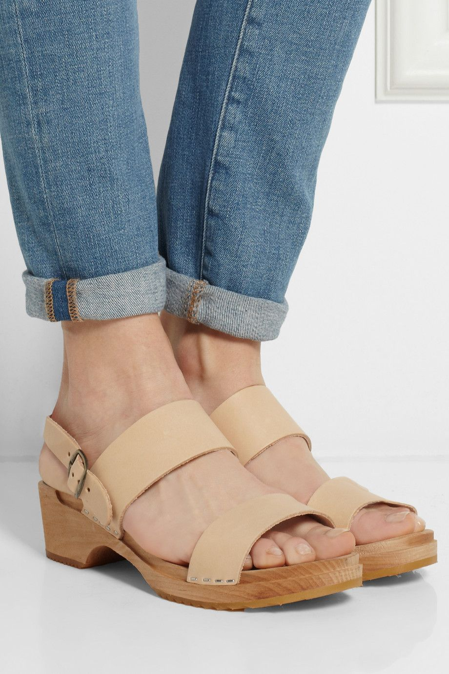 Leather Sandals - Funkis. When you find yourself liking things you've always, always not cared for. CLOGS.