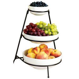 Home Tiered Fruit Basket Fruit Holder Entertaining Dishes
