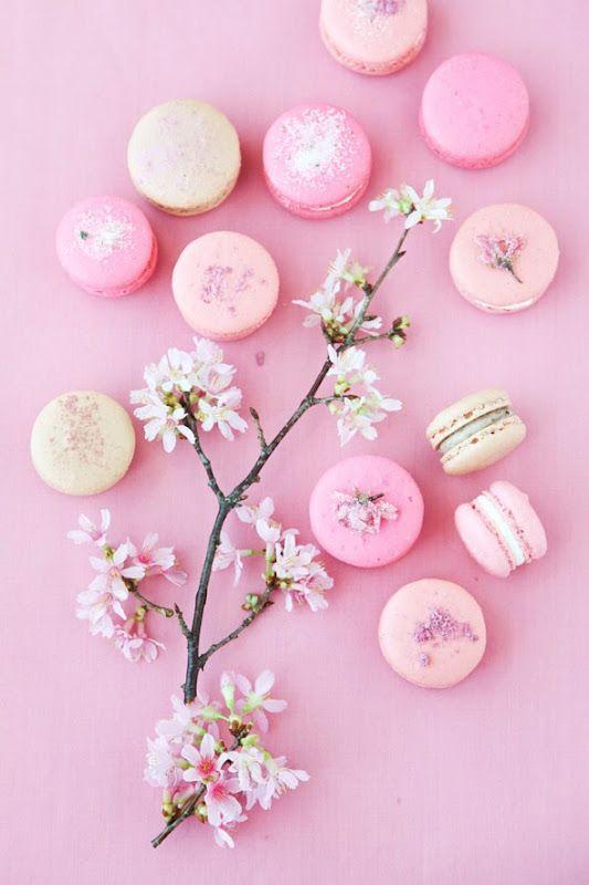 Blossom macaroons