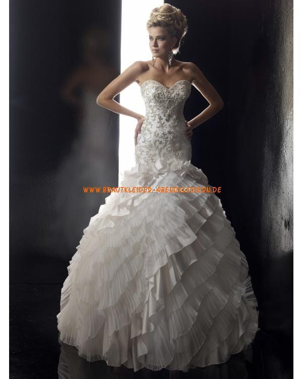 Wunderschöne Extravagante Brautkleider 2013 aus Satin mit ...