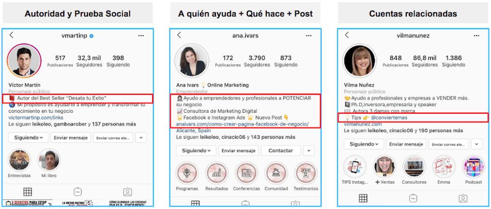 Biografía De Instagram Qué Poner En La Bio Trucos Y Ejemplos Ejemplo De Biografia Bio De Instagram Instagram