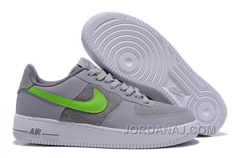 488298 1 009 Nike Air Force 1 488298 Acción Verde Nafo123 Lobo Gris 713acc