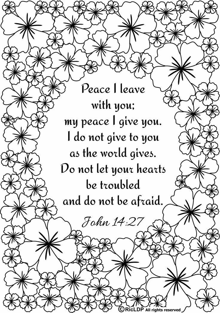 Jon 14:27 Peace I leave with you   WORDS coloring pages   Pinterest ...
