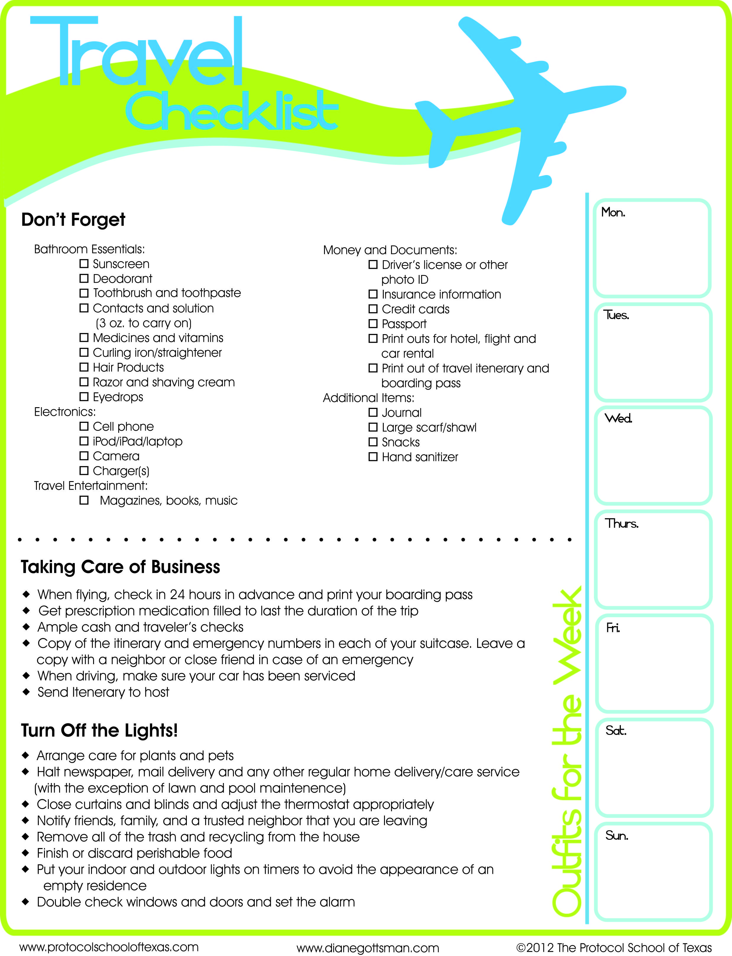 Travel Checklist Printable Travel Checklist Travel Tips Travel