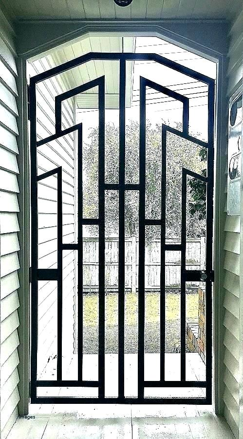 Simple Front Door Grill Design For House Cleverkina In 2020 Grill Door Design Steel Door Design Door Gate Design