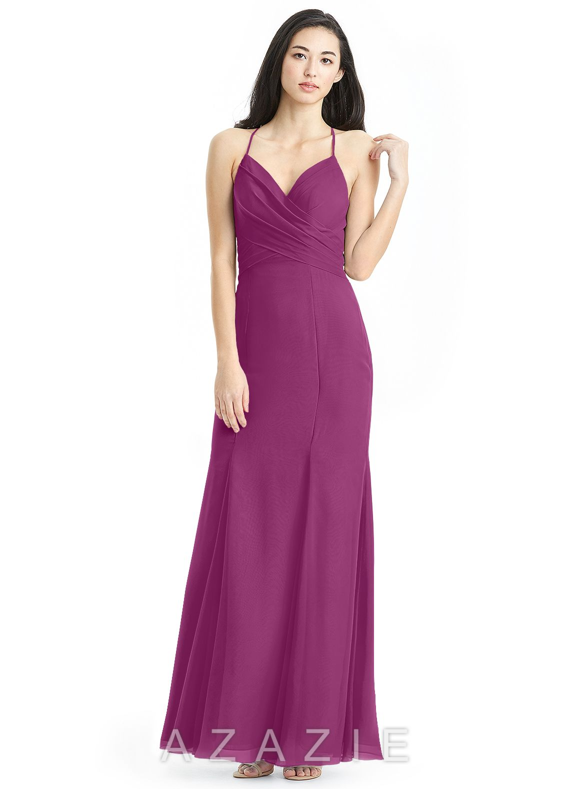 50a9e7b9d88 Shop Azazie Bridesmaid Dress - Carolina in Chiffon. Find the perfect  made-to-order bridesmaid dresses for your bridal party in your favorite  color