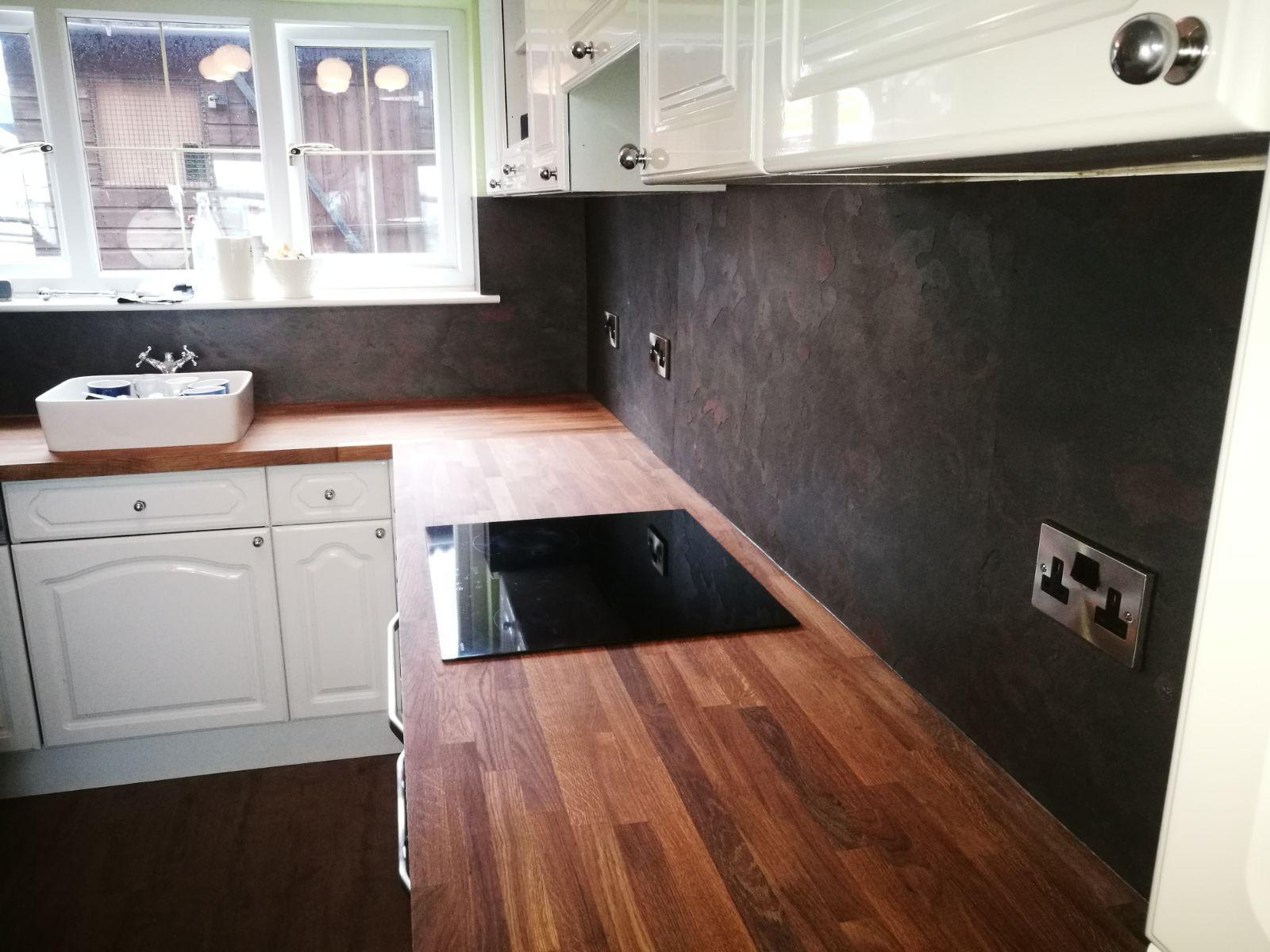 arcobaleno colore slate veneer kitchen walls kitchen d cor rh pinterest com