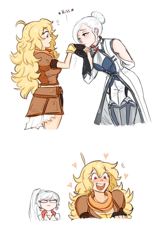 The Older Sisters. Art by dashingicecream. Seriously, if you have a tumblr and like RWBY, follow them.