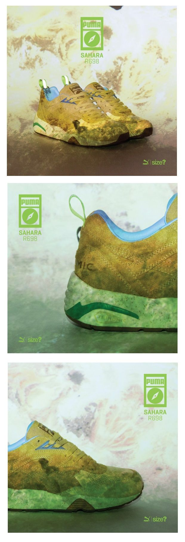 nouveau produit f1b1f 9279f Size? x Puma R698 Wilderness - Sahara pack | Sneakers: Puma ...