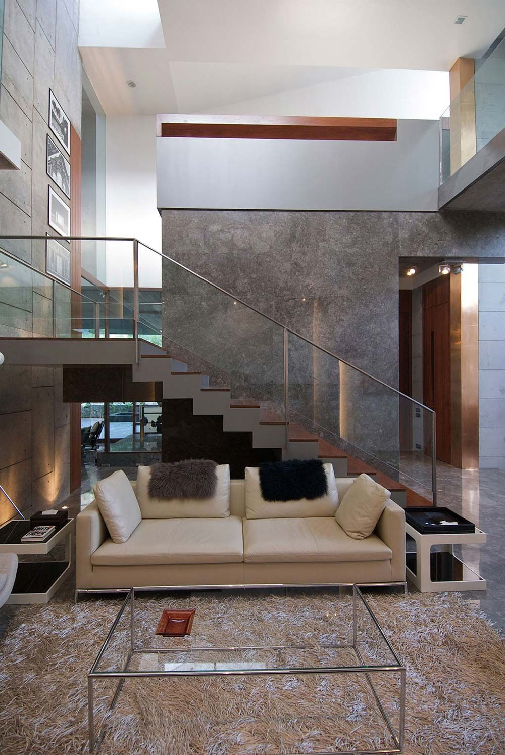 marble walls, stairs, poona house in mumbai, indiarajiv saini
