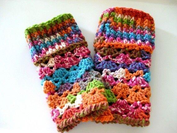 Guantes sin dedos guantes de ganchillo patrón cómo por crochetgal ...
