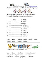 Image result for worksheet on collective nouns for grade 2 ...