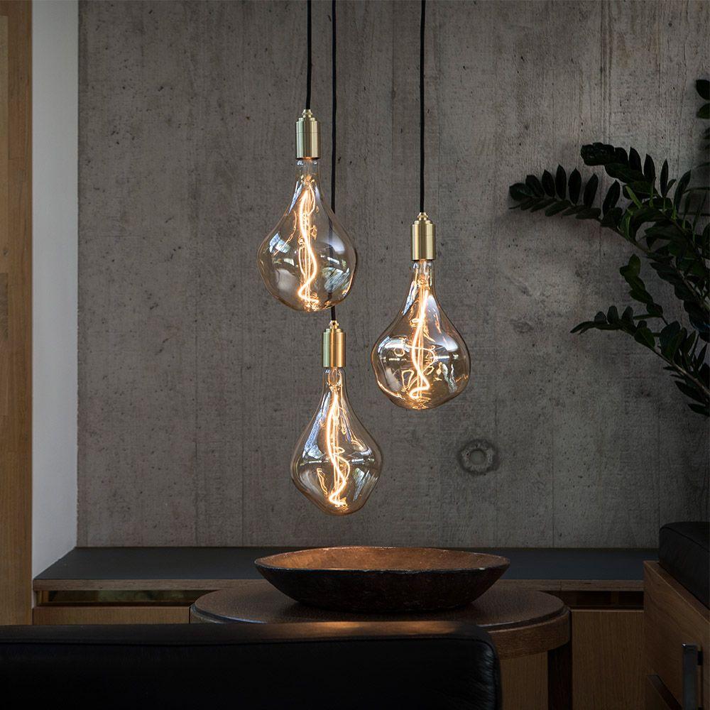 voronoi ii brass pendant trio design collection tala ceiling light led bulb lights wifi smart fan regulator