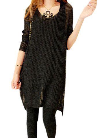 Long Sleeve Jumper Mini Loose Dress
