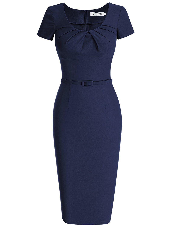 MUXXN 1950 Retro Vestiti Abiti Donna Eleganti Vestiti Anni 50 Vestiti Donna  Eleganti da Cerimonia  Amazon.it  Abbigliamento 4737411c433