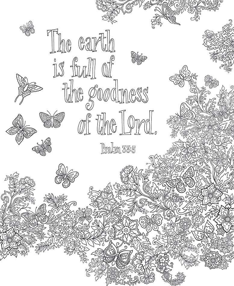 Bible Blessings Promises Coloring Book For Adults Coloring