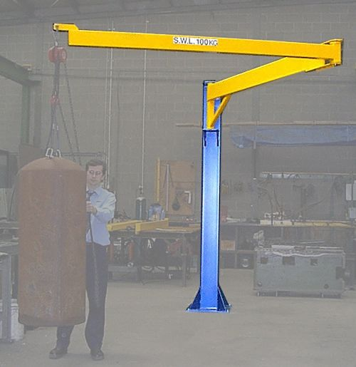 Articulated jib crane show pinterest shop ideas for Shop hoist plans