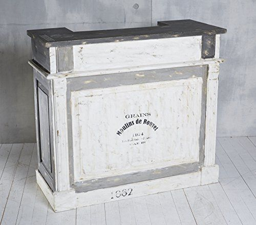 Bar Theke Tresen Aus Echtholz Im Coolen Retro Design Shabby Chic 120 X 108 Cm Amazon De Kuche Haushalt Tresen Schabby Schick Shabby