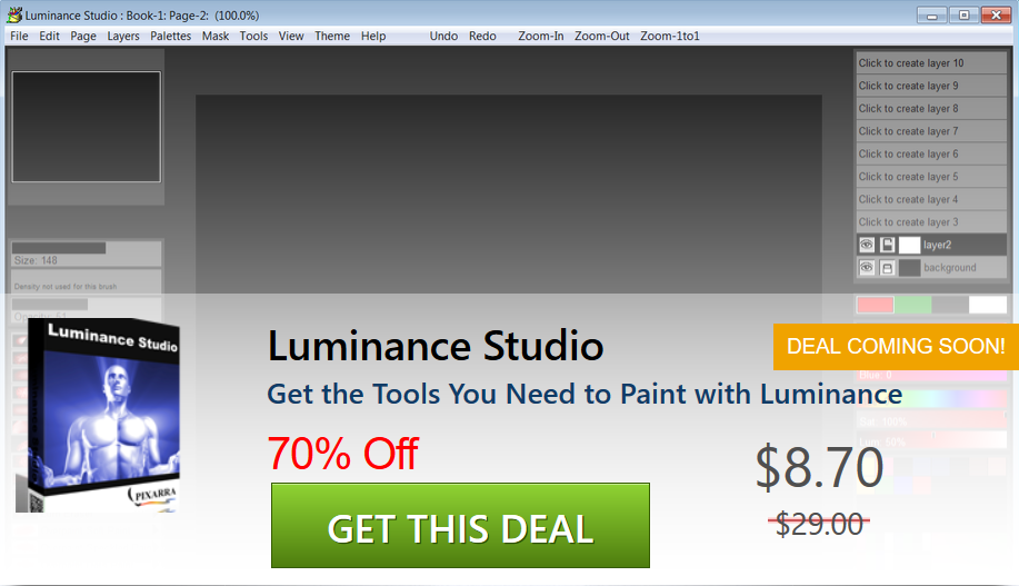 Paint With Light For 8 70 Only Get Luminance Studio With 70 Discount Today Twistedbrush Pixarra Lu Graphic Design Software Digital Art Software Software
