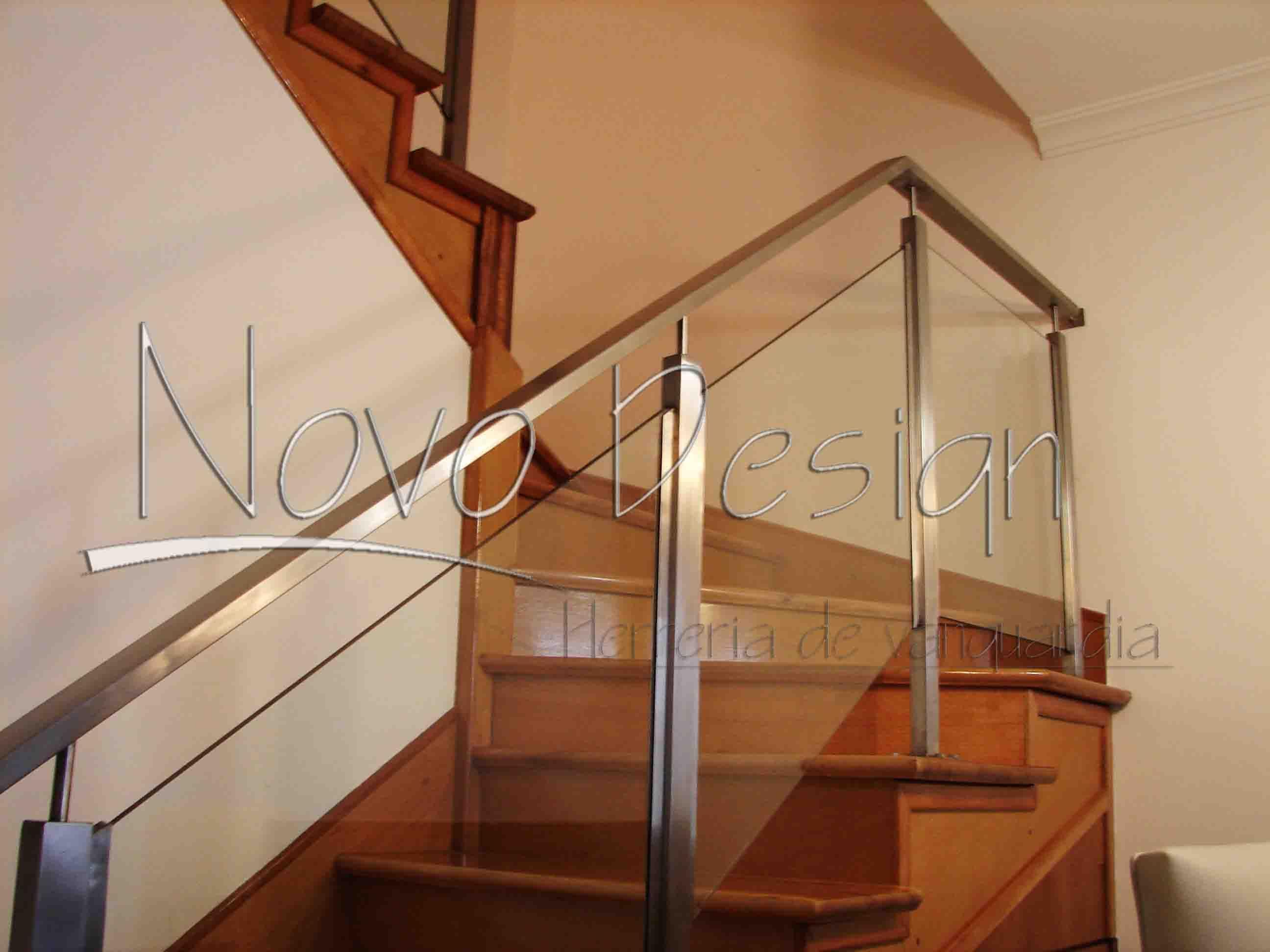 Barandas acero inoxidable y vidrio mod 8 venta de - Escaleras de cristal y madera ...