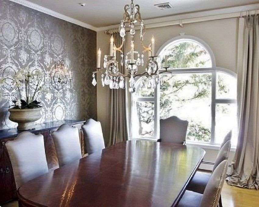 Beautiful Grey Dining Room Wallpaper Ideas