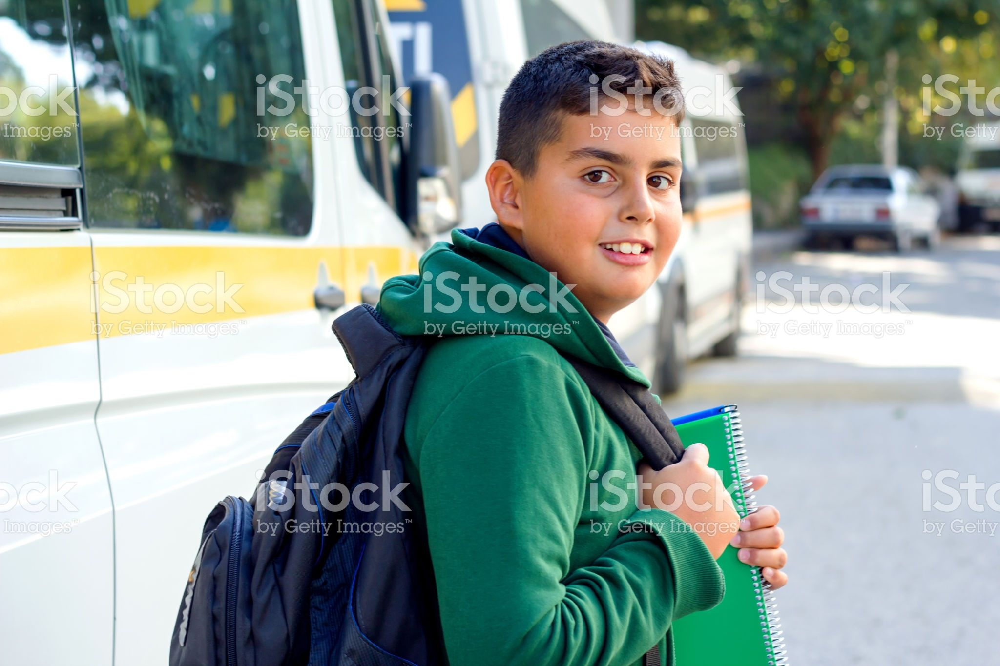 Boy Is Going To School royalty-free stock photo