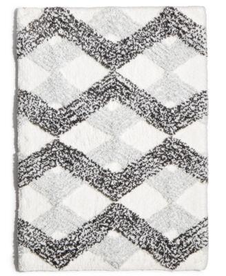 Sunham Comfort Soft Ripple Gem 17 X 24 Tufted Bath Rug Bedding