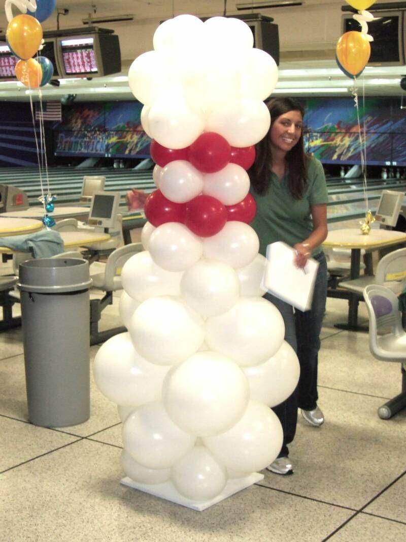 Bowling pin balloons - Balloom Bowling