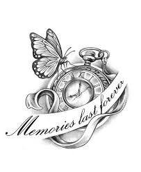Time And Girl Sanduhr Tattoo Vorlage Uhr 7