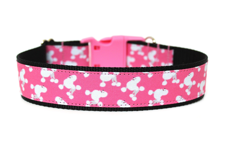 """Poodle Dog Collar 1"""" or 1.5"""" Standard Poodle Dog Collar"""