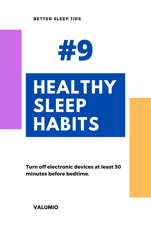 Sleep health tips
