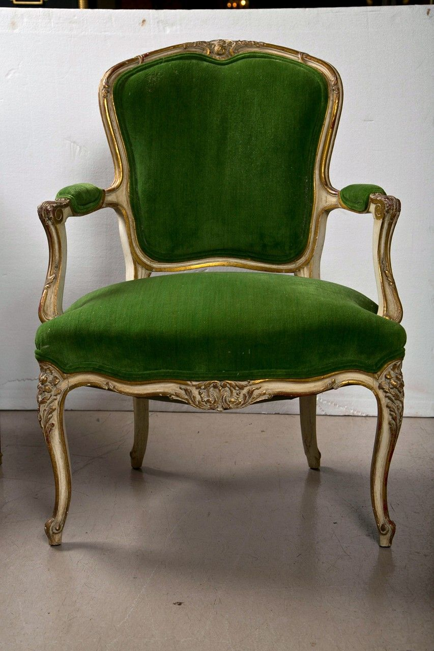 French louis xv style armchair from a unique collection of antique and modern armchairs at