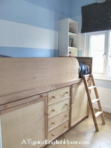 Small Box Room Cabin Bed For Grandma: A Typical English Home: Box Room Reveal: Our New Striped